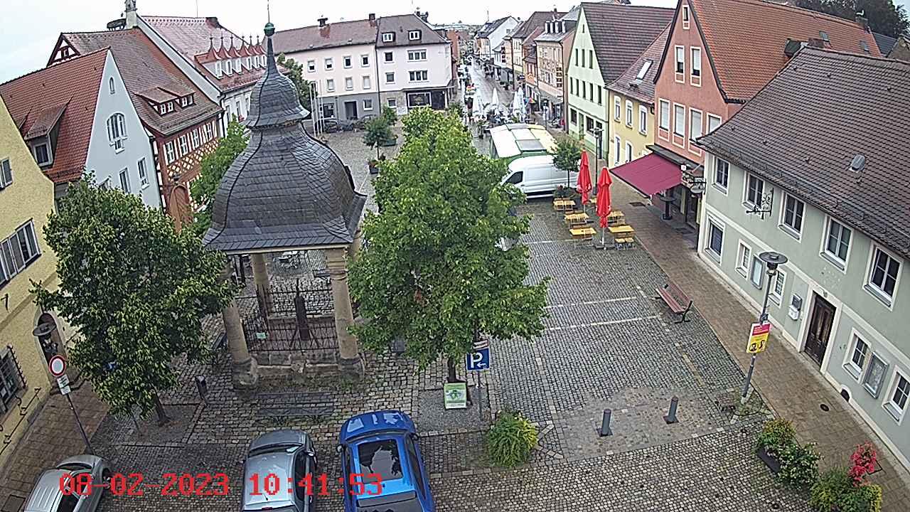 Webcam Marktplatzansicht Hoechstadt - Webcam Marktplatzansicht Höchstadt in der ErlebnisRegion Steigerwald